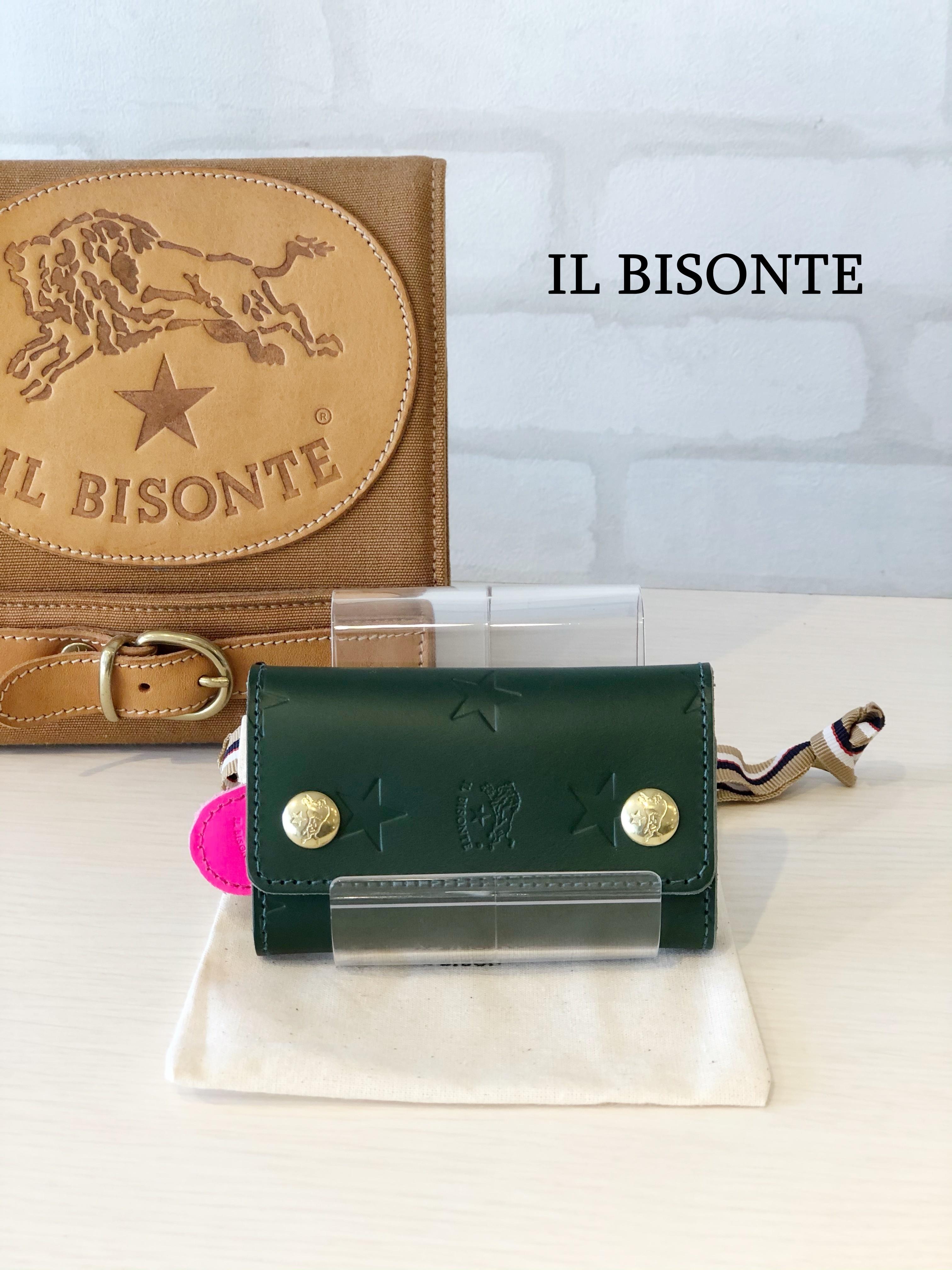 【日本限定】IL BISONTE(イルビゾンテ)/キーケース/04890(グリーン)