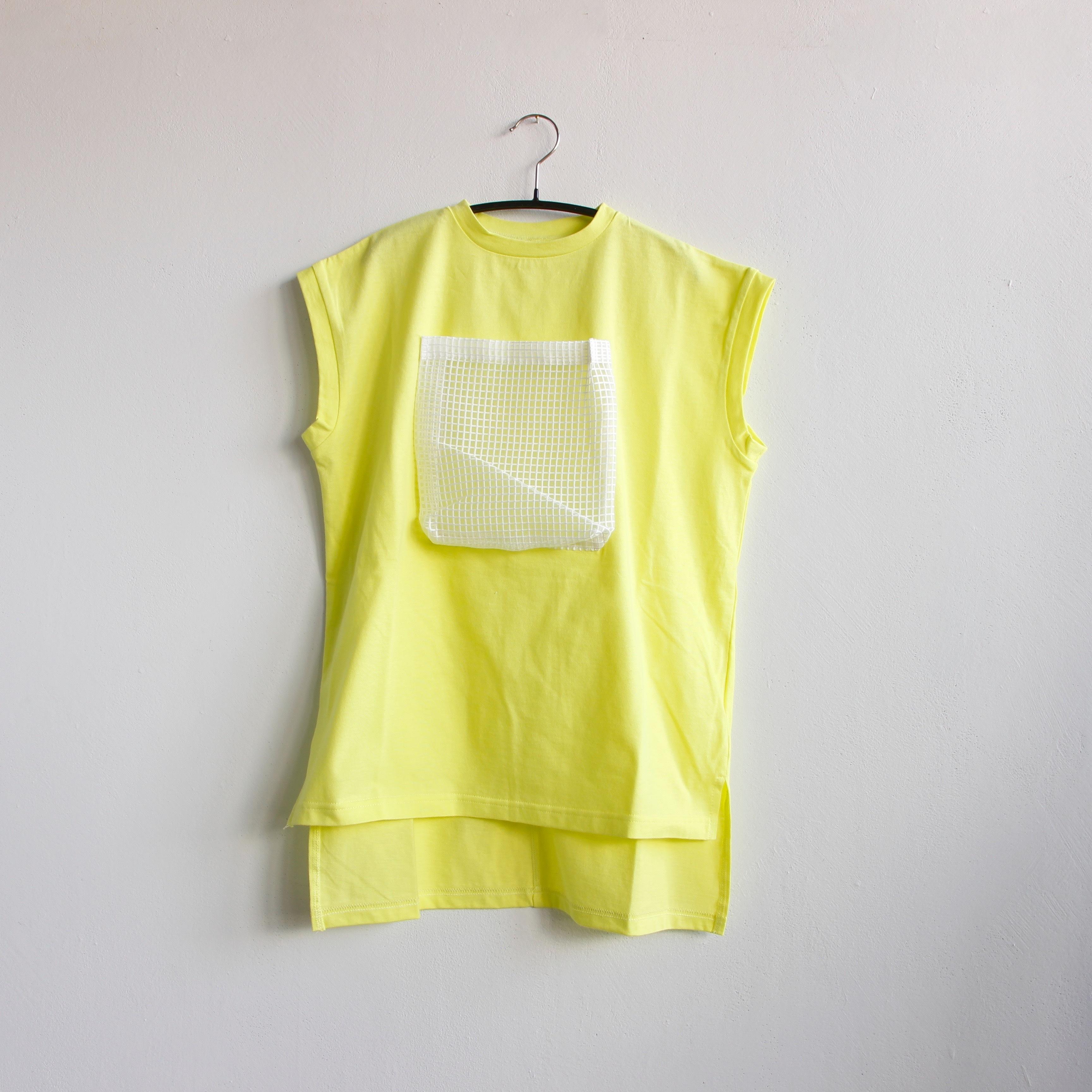 《michirico 2020SS》Front pocket OP / lemon yellow / L・XL・XXL