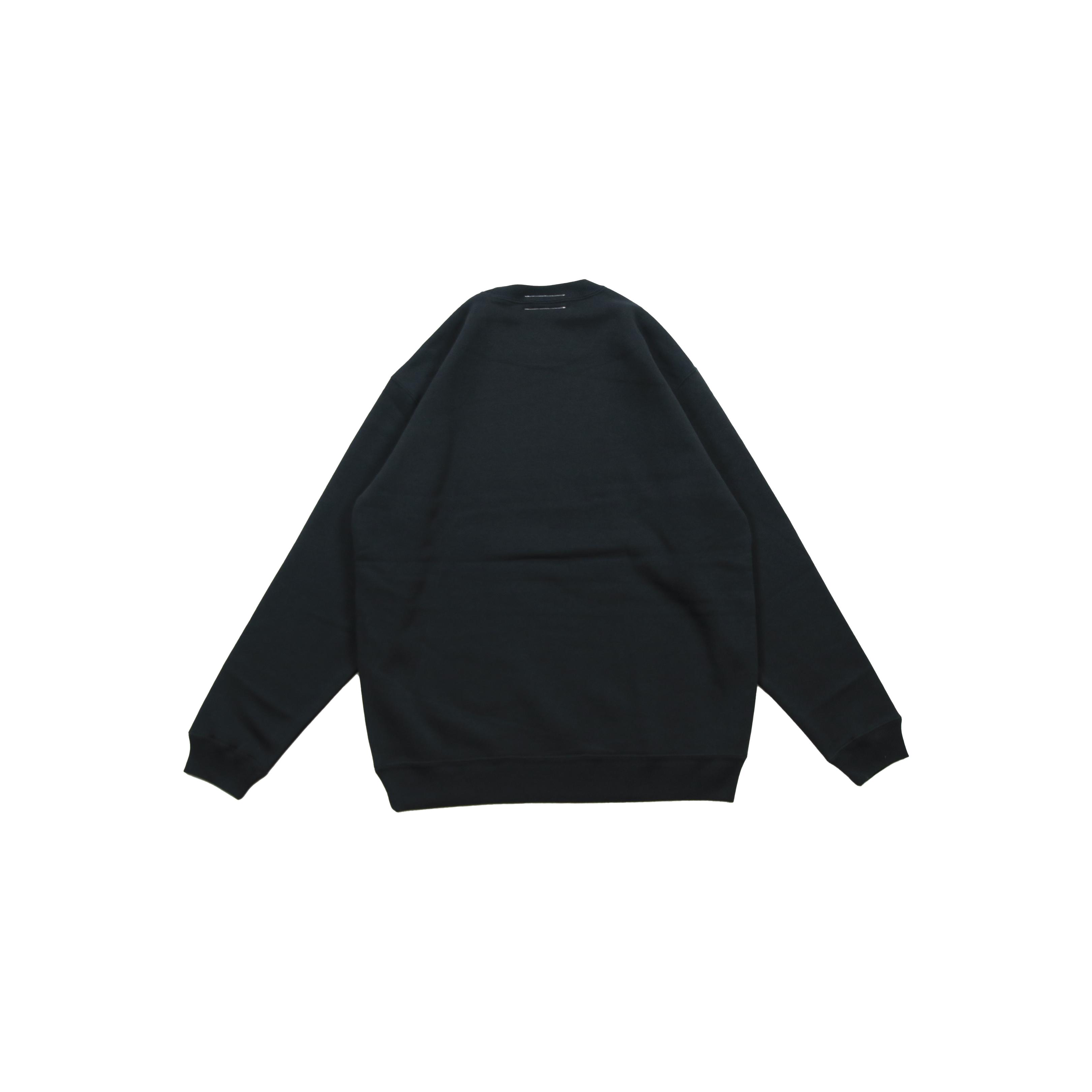 LOGO CREW NECK SWEATSHIRT [BLACK/BLACK]