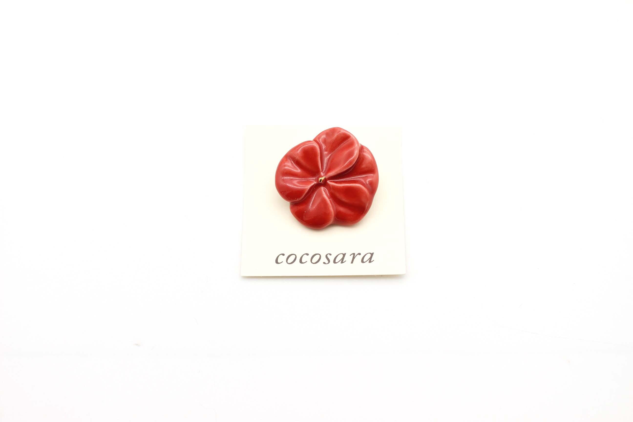 有田焼 ブローチ flower(S)赤