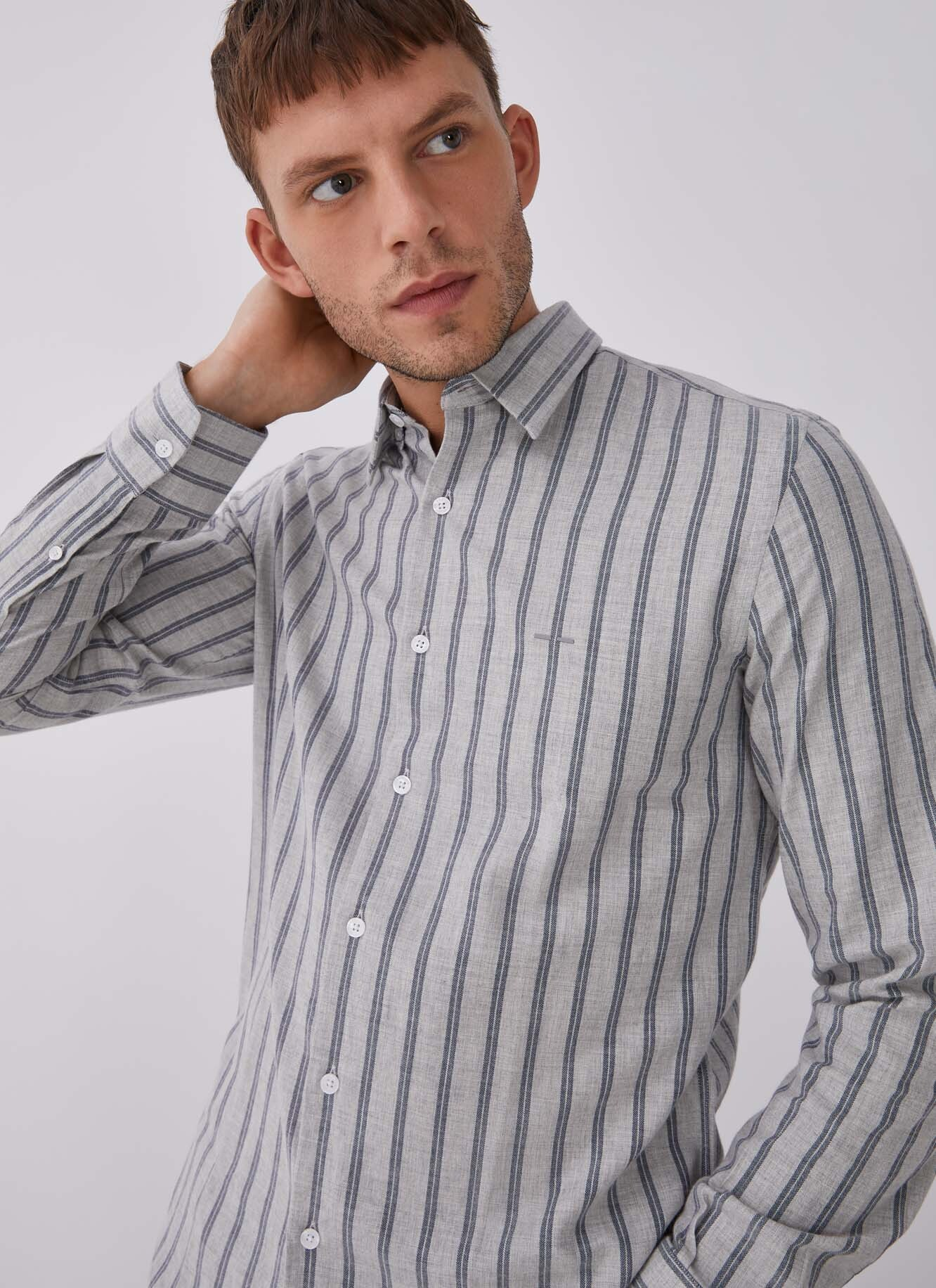 COTTON SHIRT WITH STIPES