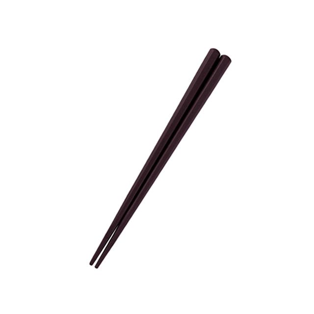 六角形16cm箸 チョコ【OGH-1-CH】