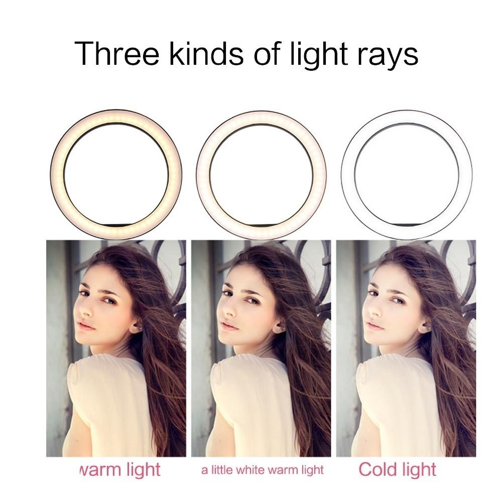 各種撮影用 LEDリングライトスタンド(3色切り替え・高さ最大155cm)