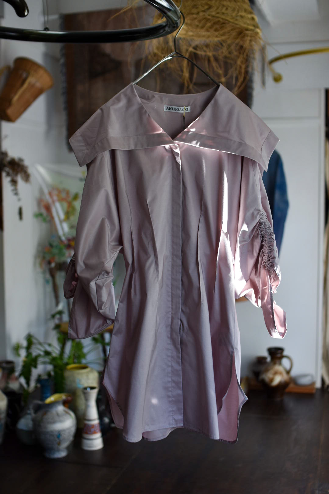 AKIKOAOKI Sailor zip blouse