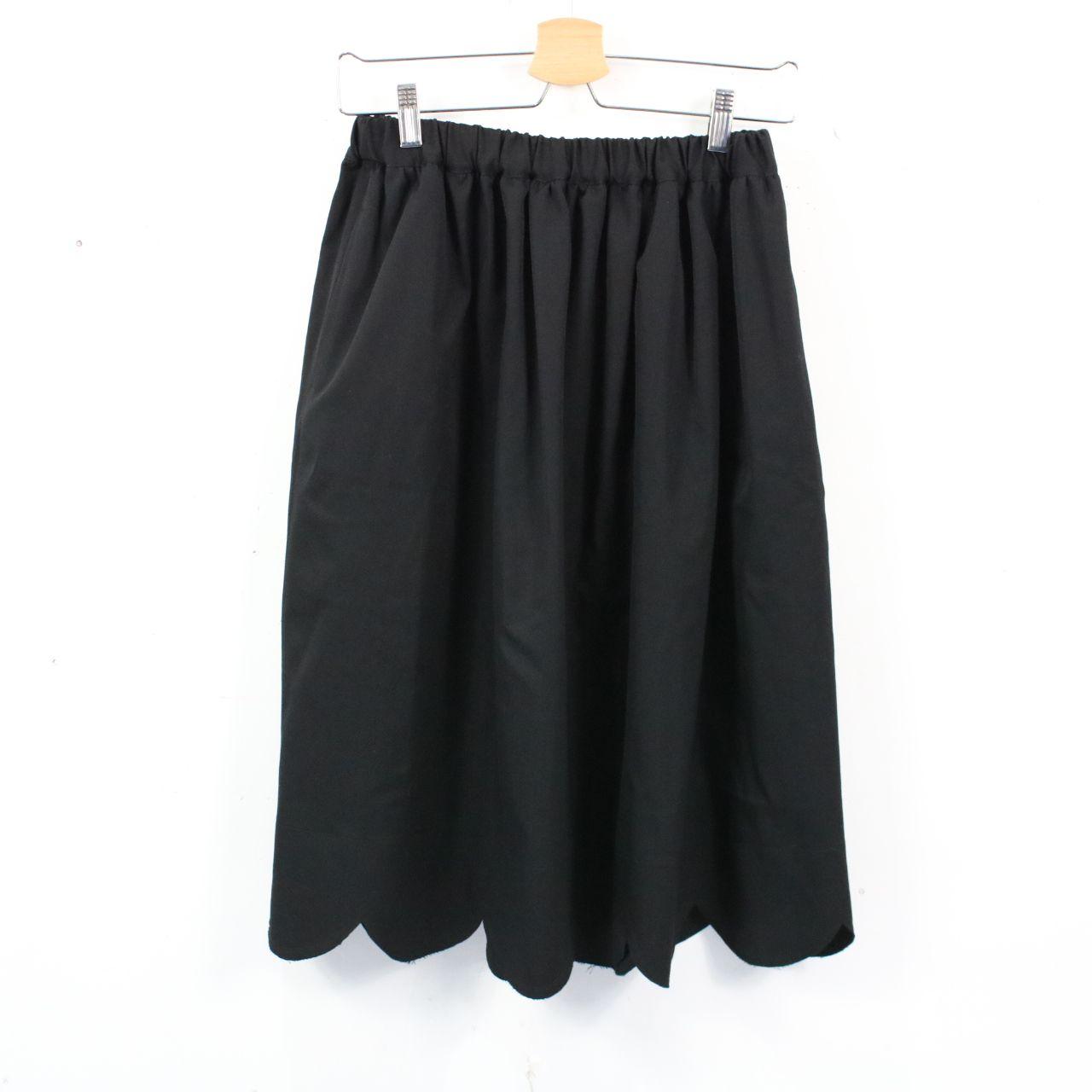 【美品】COMME des GARCONS / コムデギャルソン   2009AW   ウールギャバ スカラップスカート   XS   ブラック
