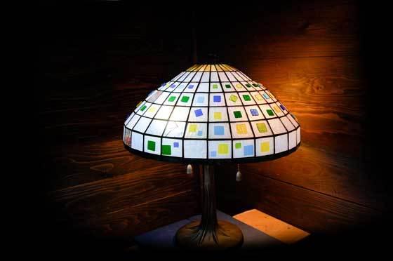ネオ(ティファニーランプ)(ステンドグラスのテーブルランプ) 01040007