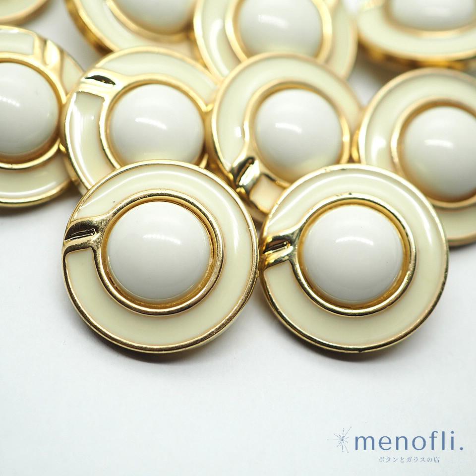 ホワイト ゴールド プラスチックボタン VC 20210127
