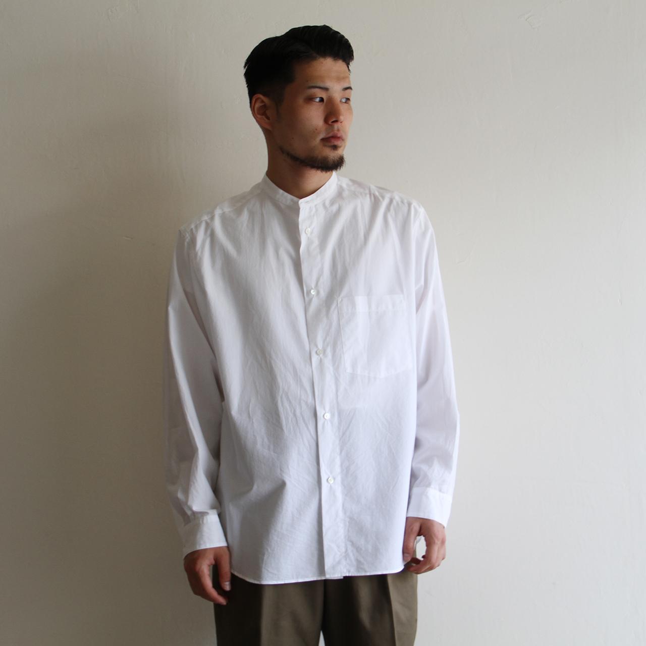 STILL BY HAND【mens】 band-collar shirts