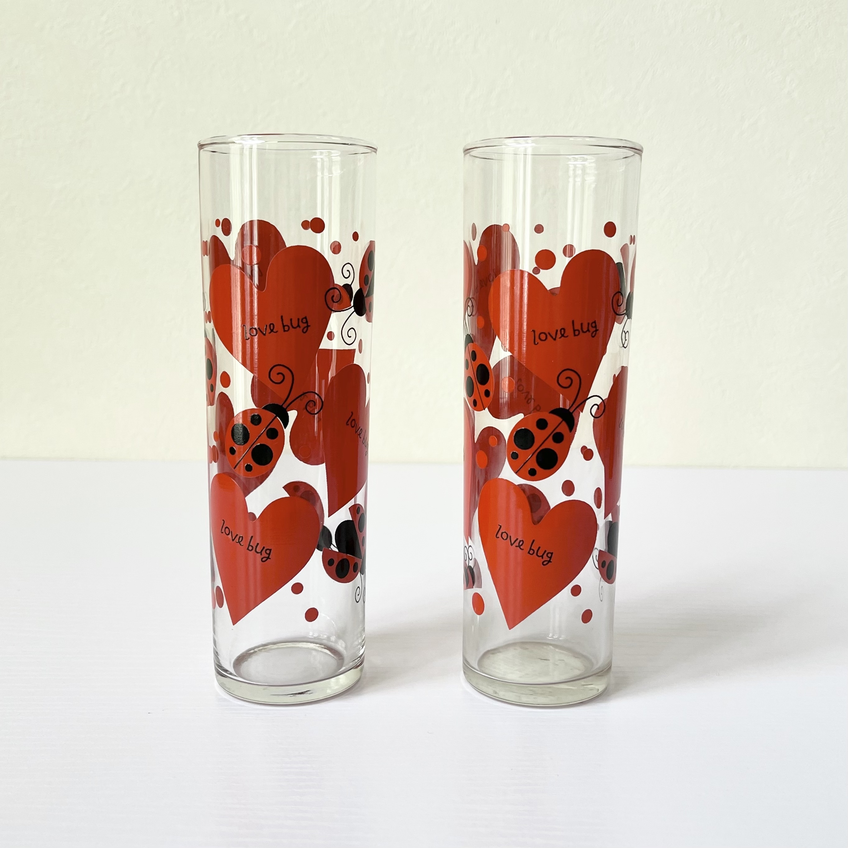 Love Bug by Indiana Glass タンブラーグラス 2個セット アメリカ食器 ヴィンテージ食器