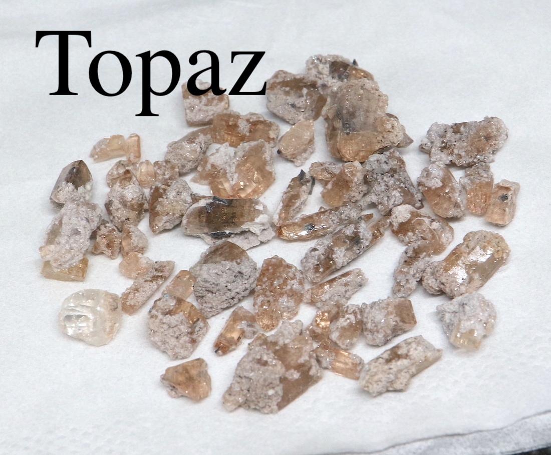 まとめて!トパーズ ユタ州産 18,5g 原石 宝石 天然石 TZ076 鉱物セット
