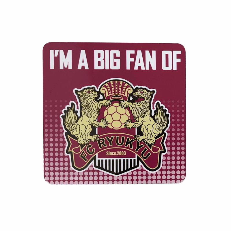 I'M A BIG FAN OF FC RYUKYU カーマグネット(ベンガラ)