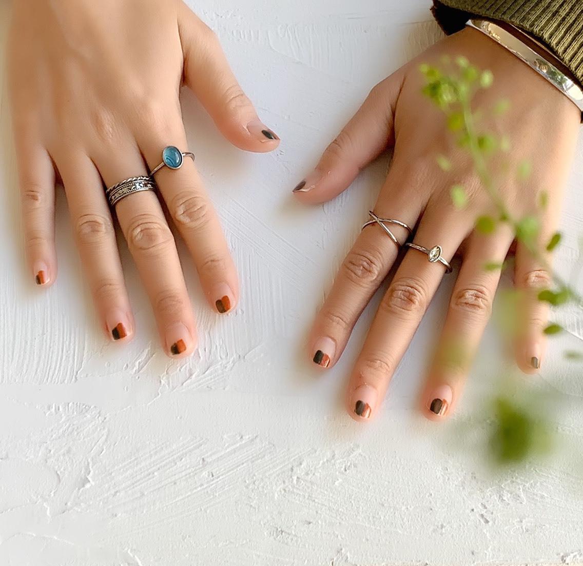 SET Rings  セットリング ターコイズカラーMIX  _#144【STELLAPARK】