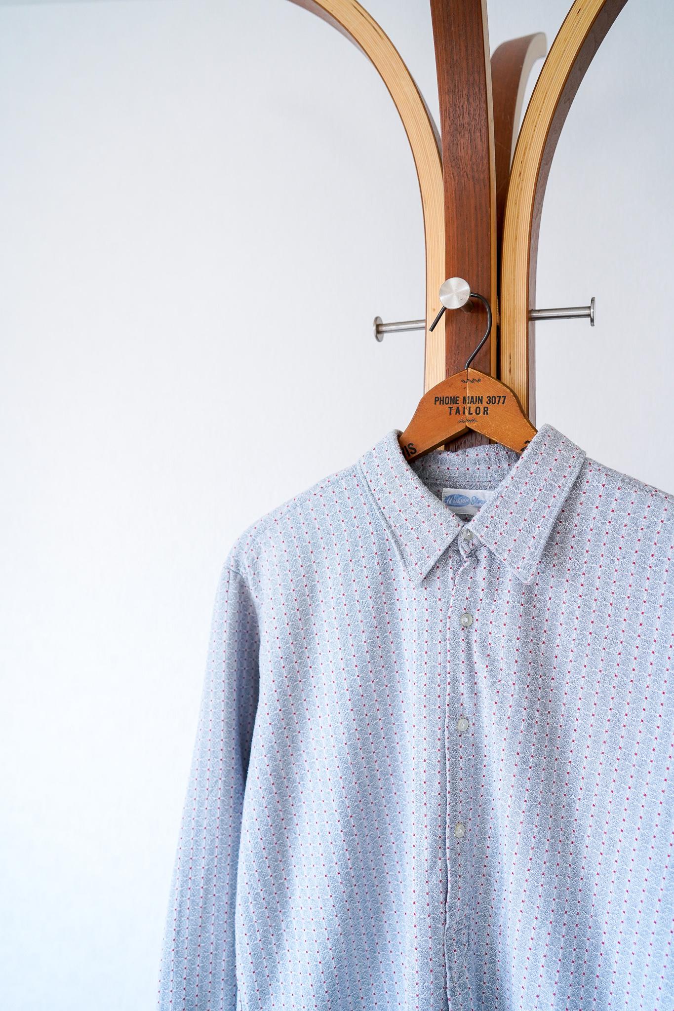 "【1960s】""Germany Made"" Euro Vintage Grandpa Shirts / v661"