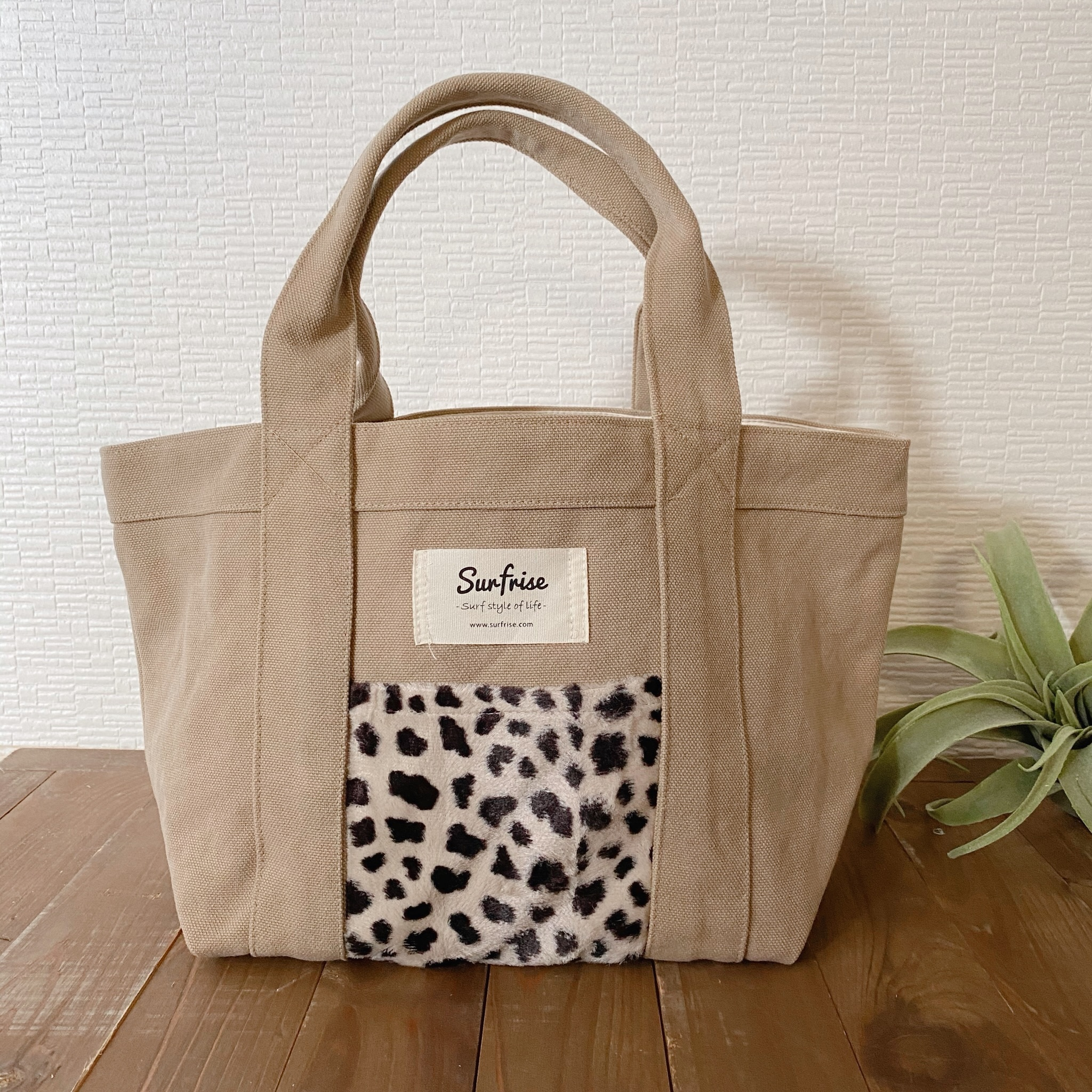 Tote bag S - Beige / Cheetah Ver.4