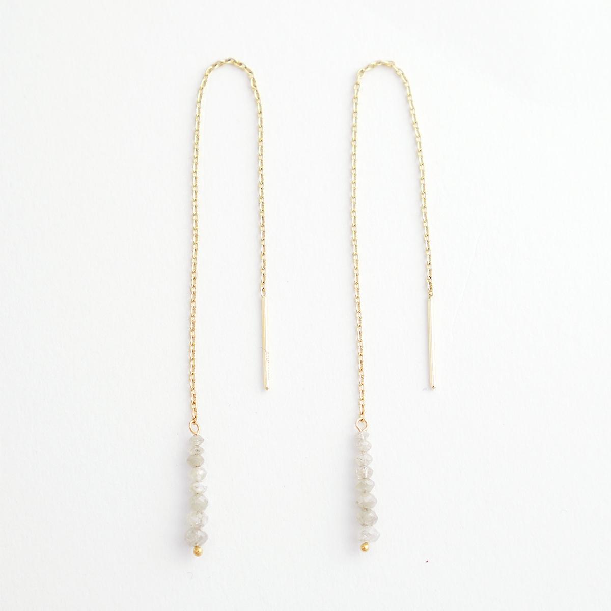 Off-white diamond pierce