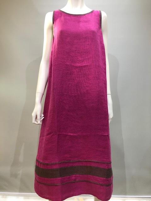 PUROTATTO(プロタット)4115 Col.307(Azalea) 麻コットンロング丈サマードレス イタリア製