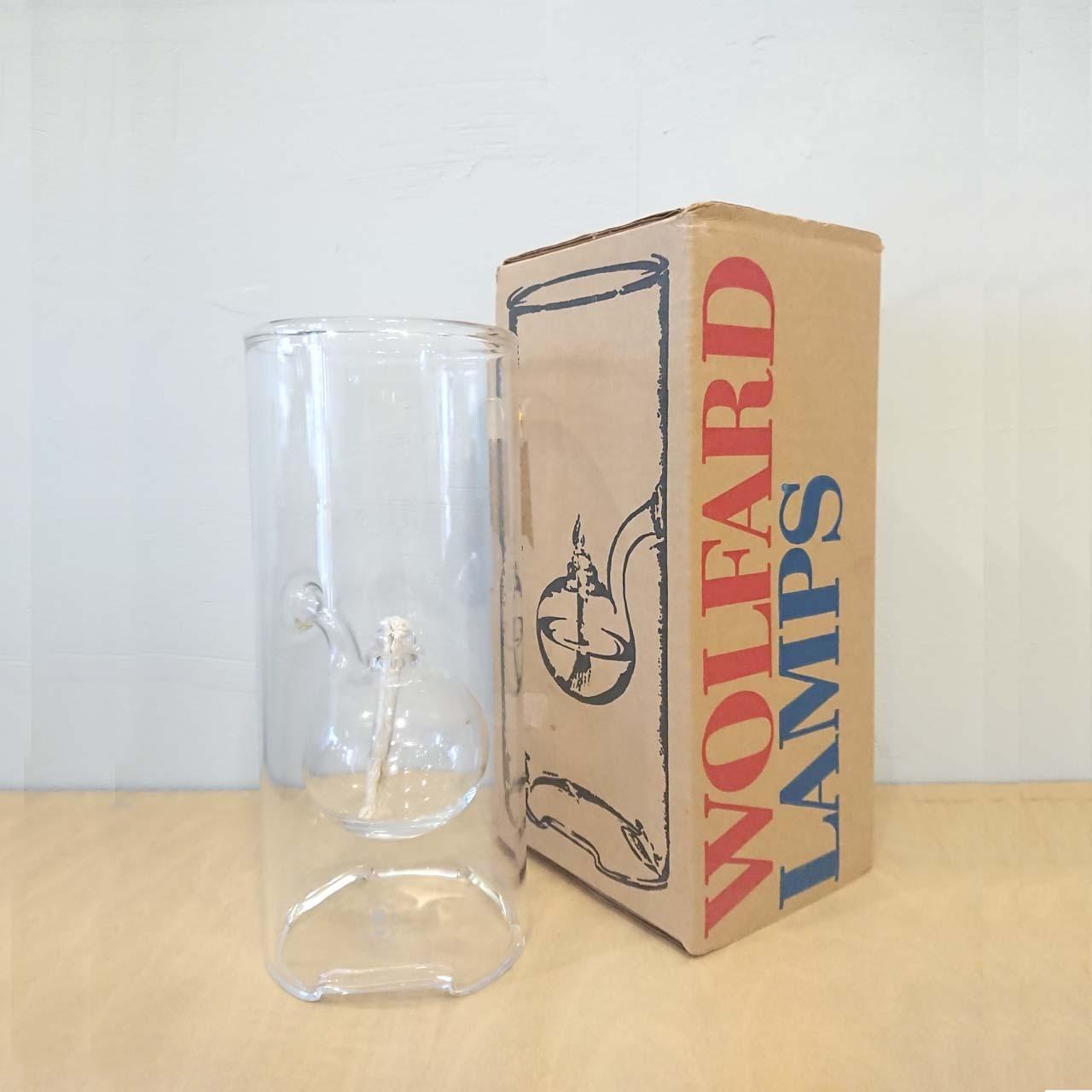 USA Wolfard Glassblowing Co.Inc. クラシックオイルランプ 23cm 箱付 美品 ビンテージ