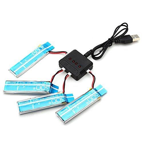 4個リポバッテリー同時充電のUSB充電器 K110&V977&その他1セル用