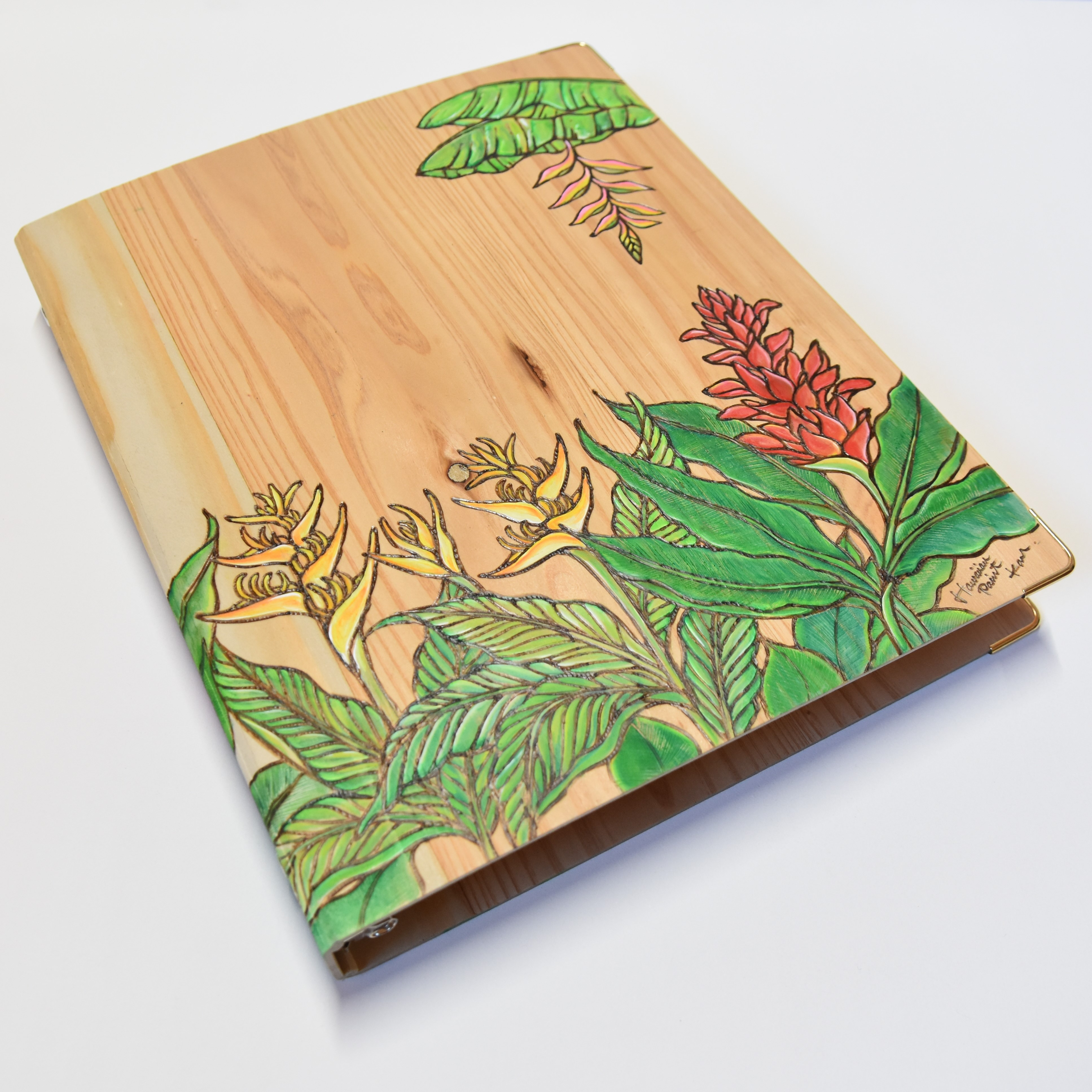Wood File A4 【Ginger&Heliconia】
