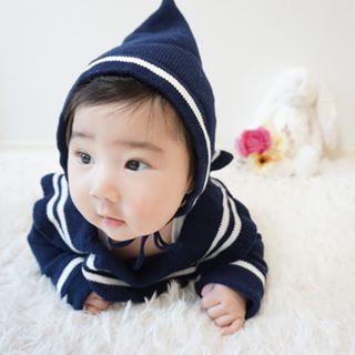 ☆在庫一掃SALE【 60%off 】ニット地セーラーロンパース+帽子セット
