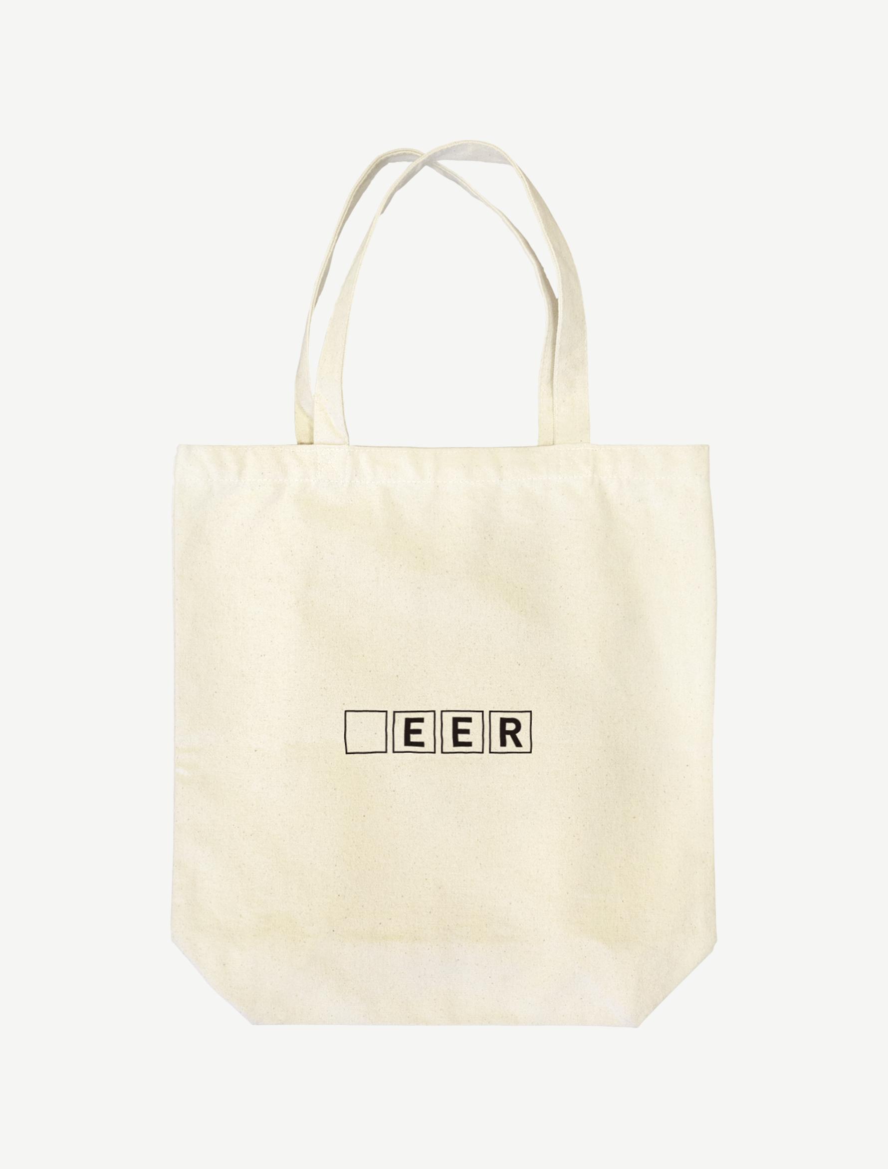【□EER】トートバッグ(ナチュラル)