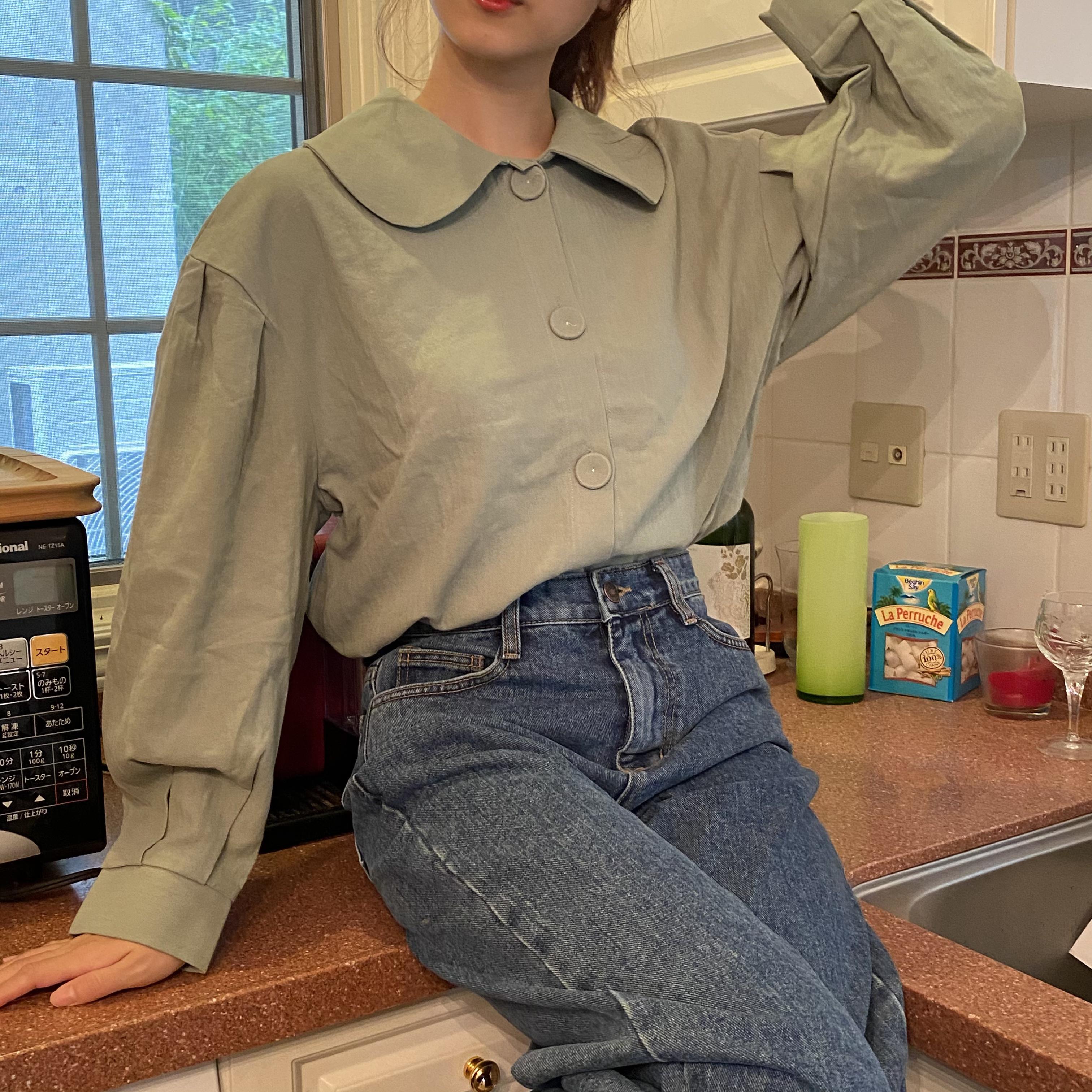 pastel color blouse
