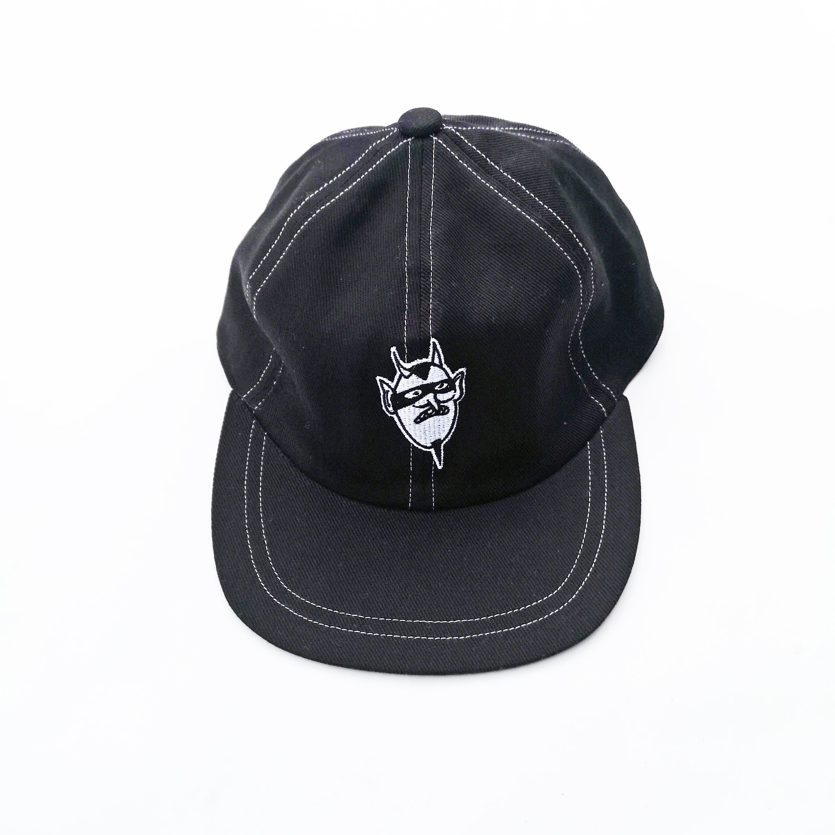 PRANK DEVIL BLACK WHITE STITCH CAP