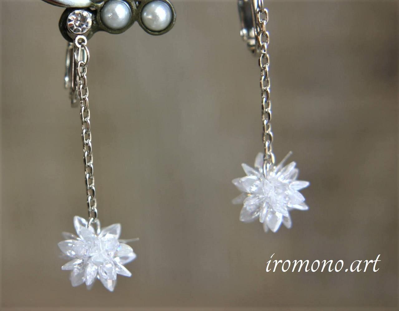 エレントイヤリング~雪の花~【ホワイト】