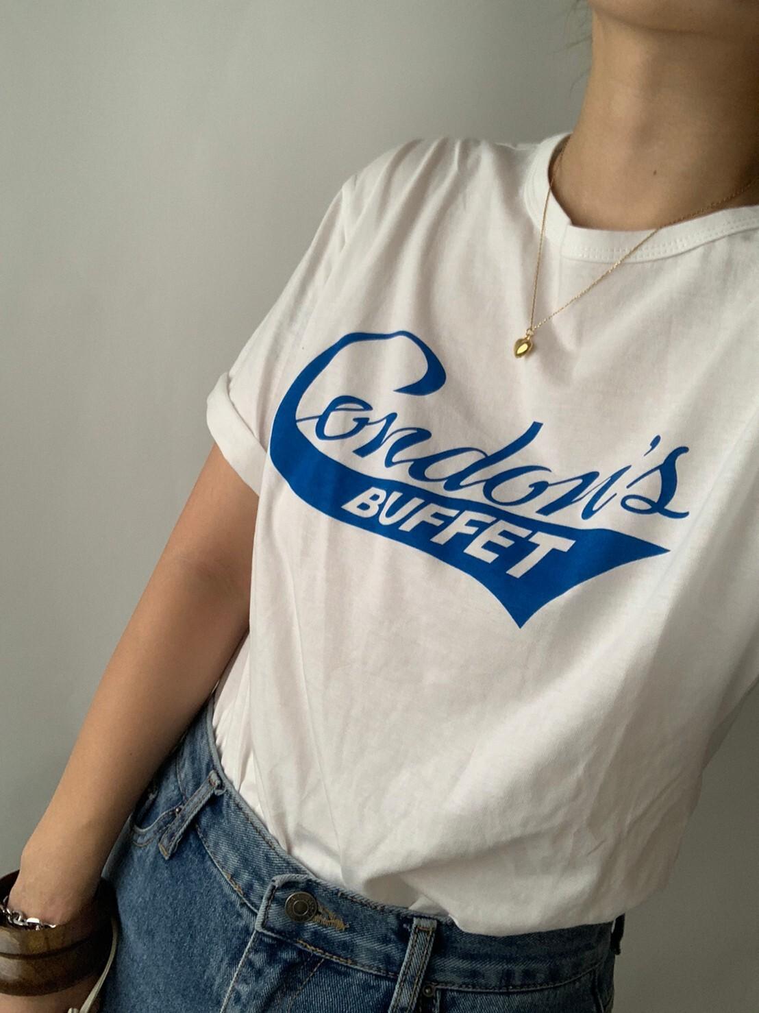 【asyu】front logo t shirt