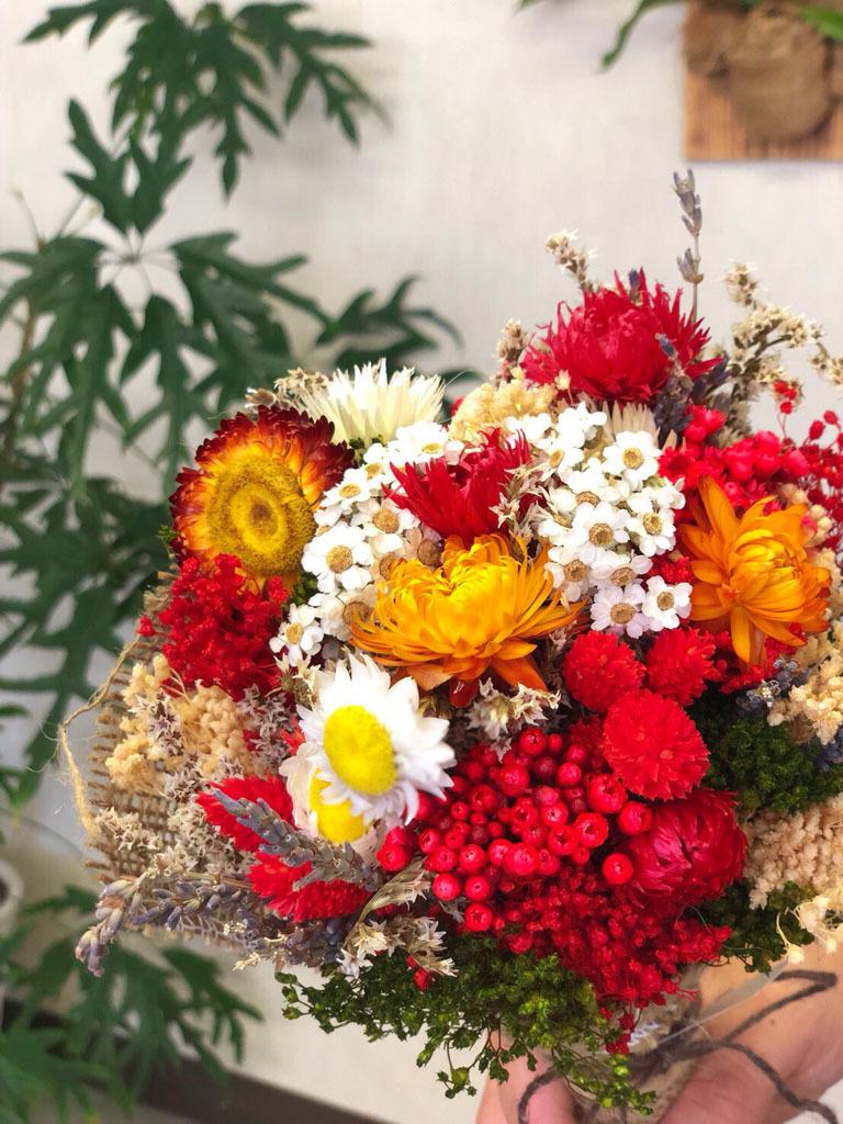 ドライフラワーブーケ ルージュ - made by Heartflower