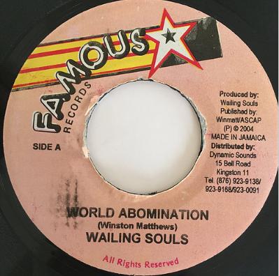 Wailing Souls(ウェイリングソウルズ) - World Abomination【7'】