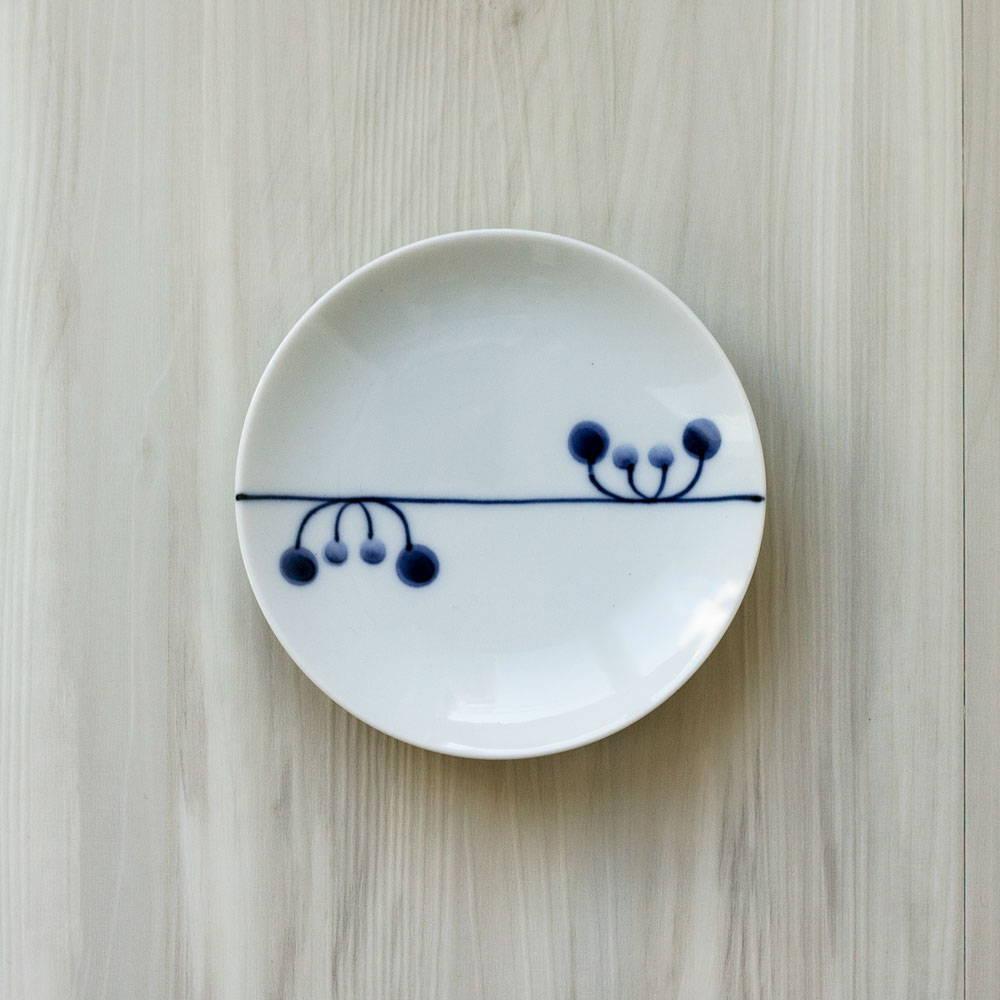 浜陶 波佐見焼 和山窯 flowers 小皿 リズム 385933