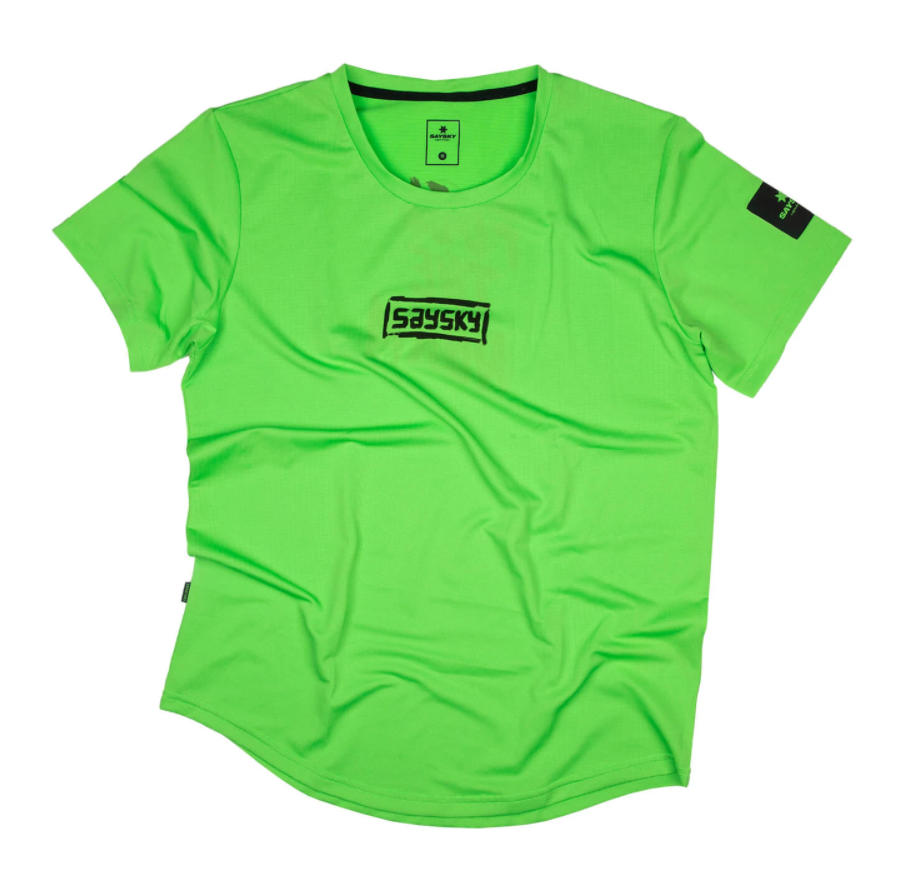 【10%OFF】SAYSKY セイスカイ ランニングTシャツ FTN Combat Tee - GREEN FLASH [ユニセックス] FMRSS10