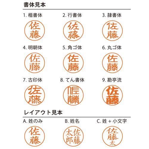 シャチハタネーム9別注品(ペールグリーン)