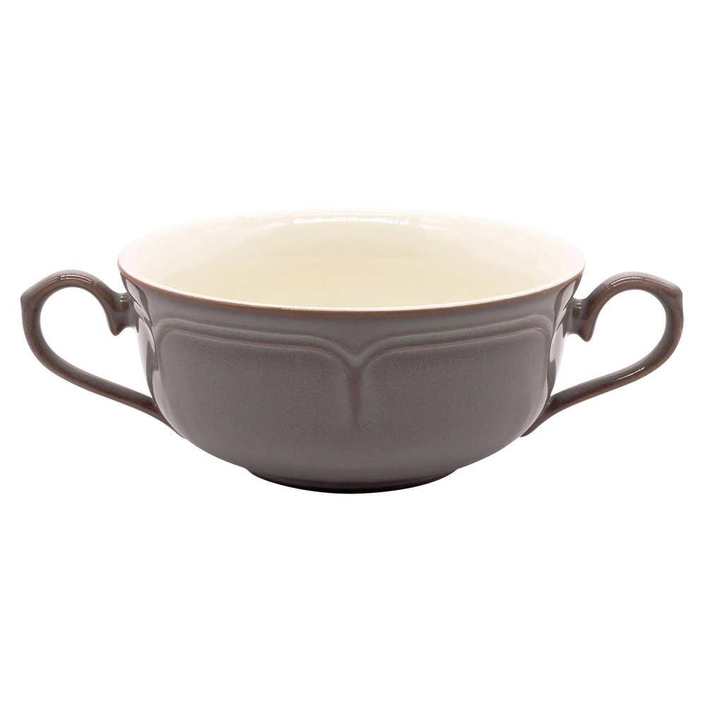 Koyo ラフィネ 両手 スープカップ 約17×12cm ストームグレー 15973054