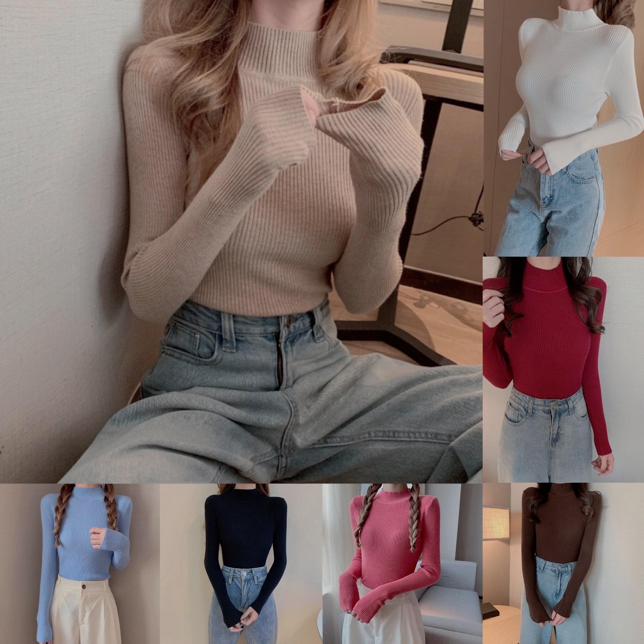 lib knit color tops 7color