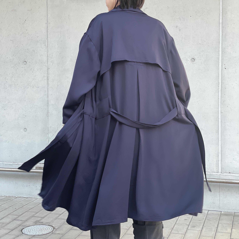 【ethical hippi】big trench coat (navy) / 【エシカル ヒッピ】ビッグトレンチコート(ネービー)
