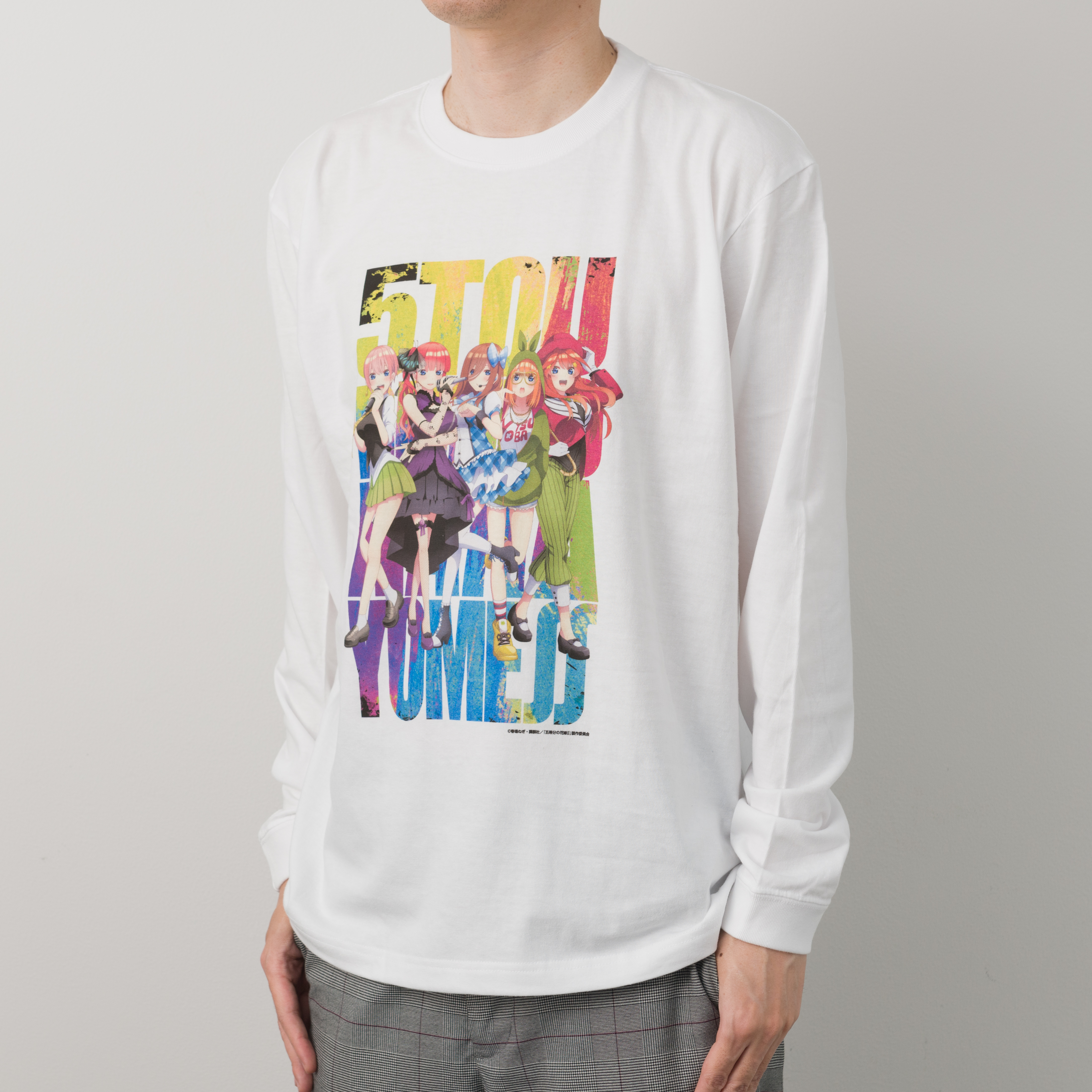 【新発売】SMRGS141_五等分の花嫁∬ ロングスリーブTシャツ ホワイトL ※3月15日以降順次お届け予定