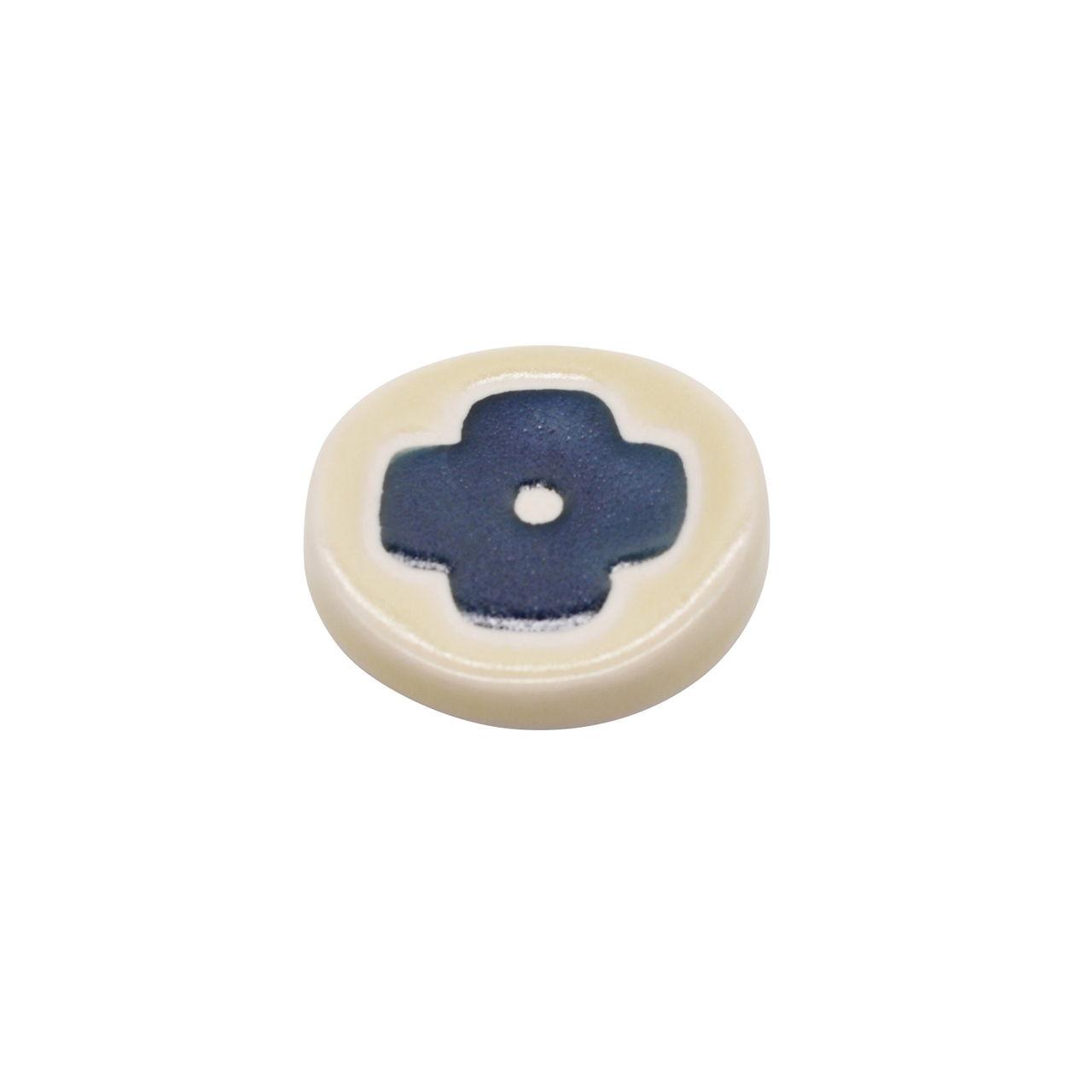 砥部焼 すこし屋 箸置き レスト 約4cm インディゴフラワー 229006