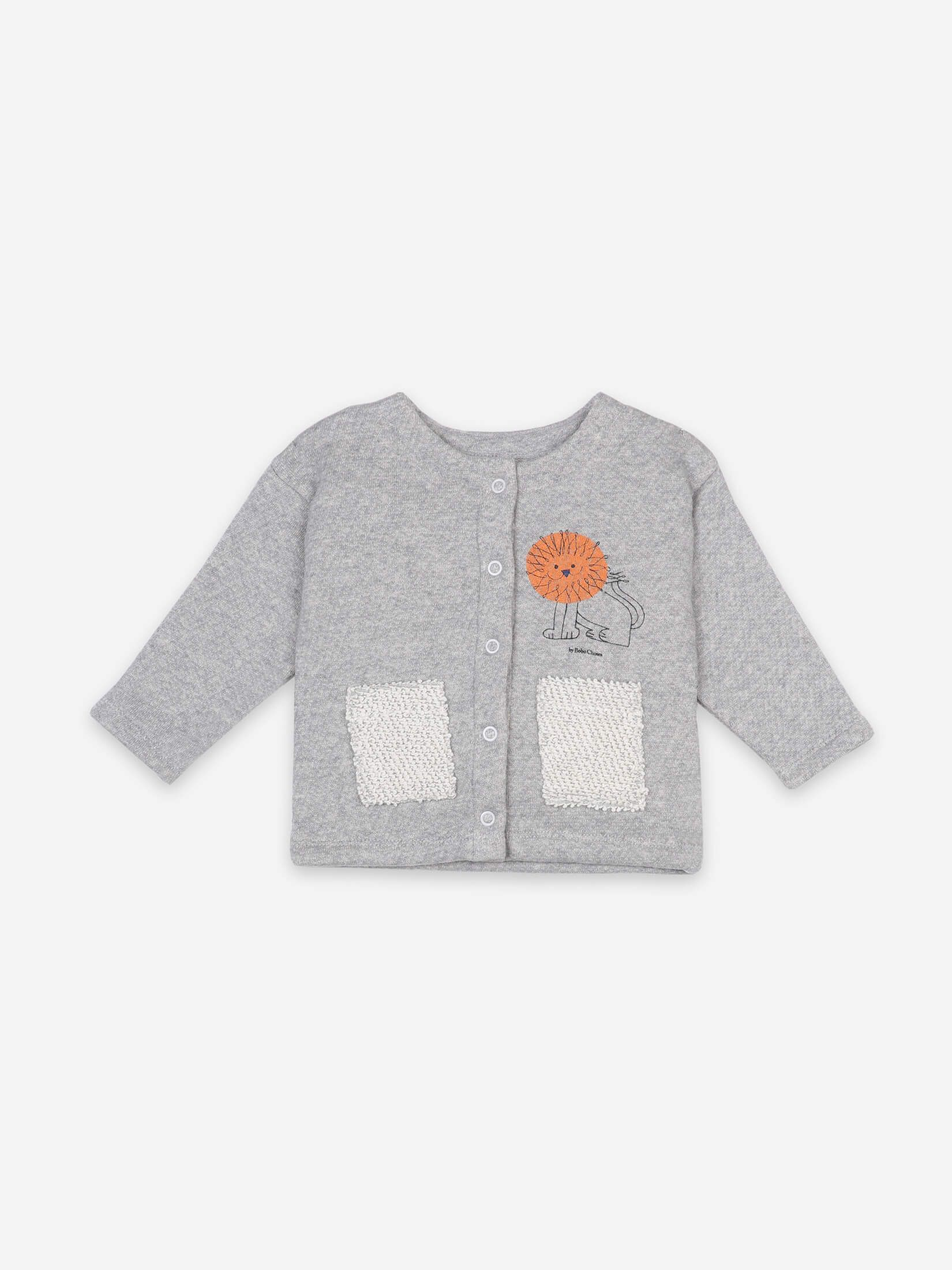 BOBO CHOSES ボボショセス Pet A Lion Buttoned Sweatshirt size:12-18M(80-90)