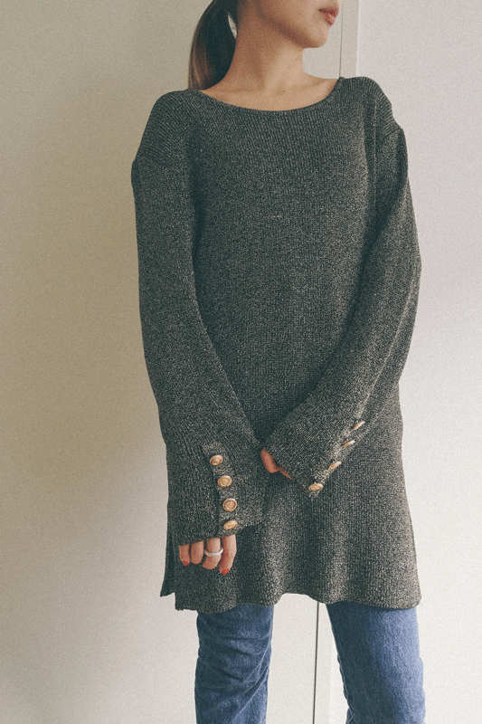 80's gold lame knit