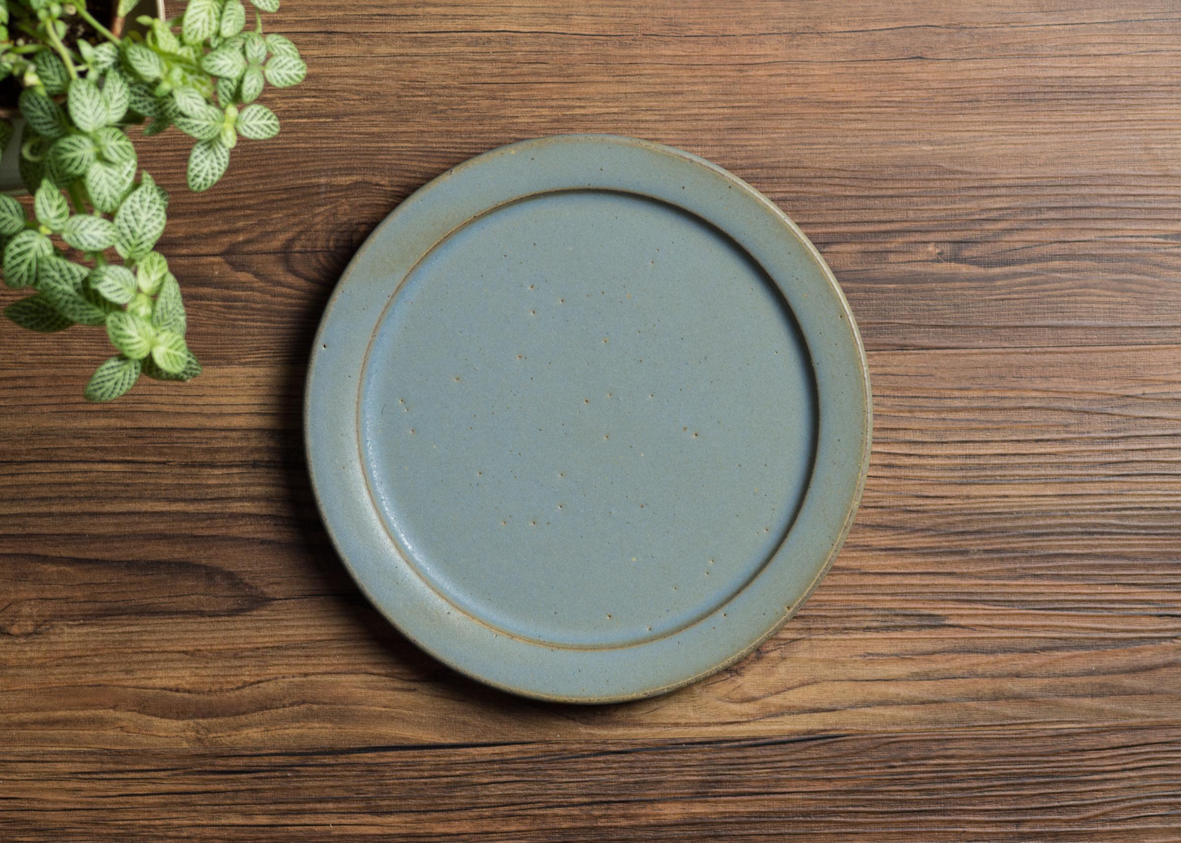 SHIROUMA 洋皿 21cm 灰色(中皿・リムプレート・メインディッシュ)/長谷川 哲也