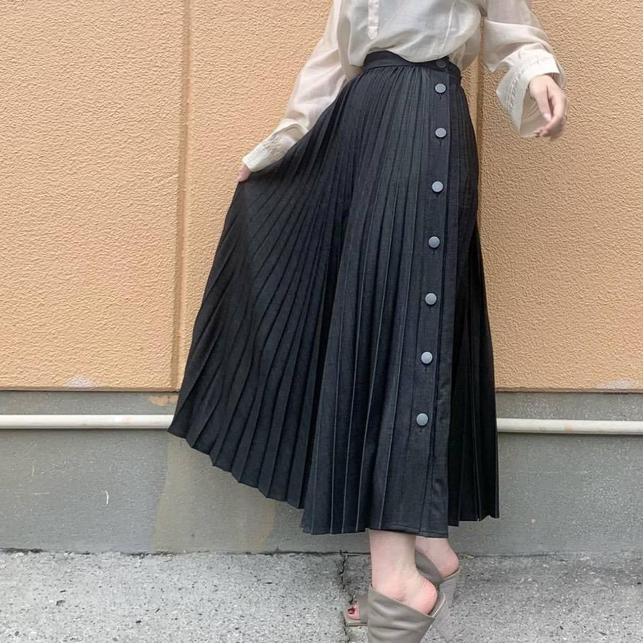 MARIED'OR/マリードール サイドボタンプリーツスカート 25291
