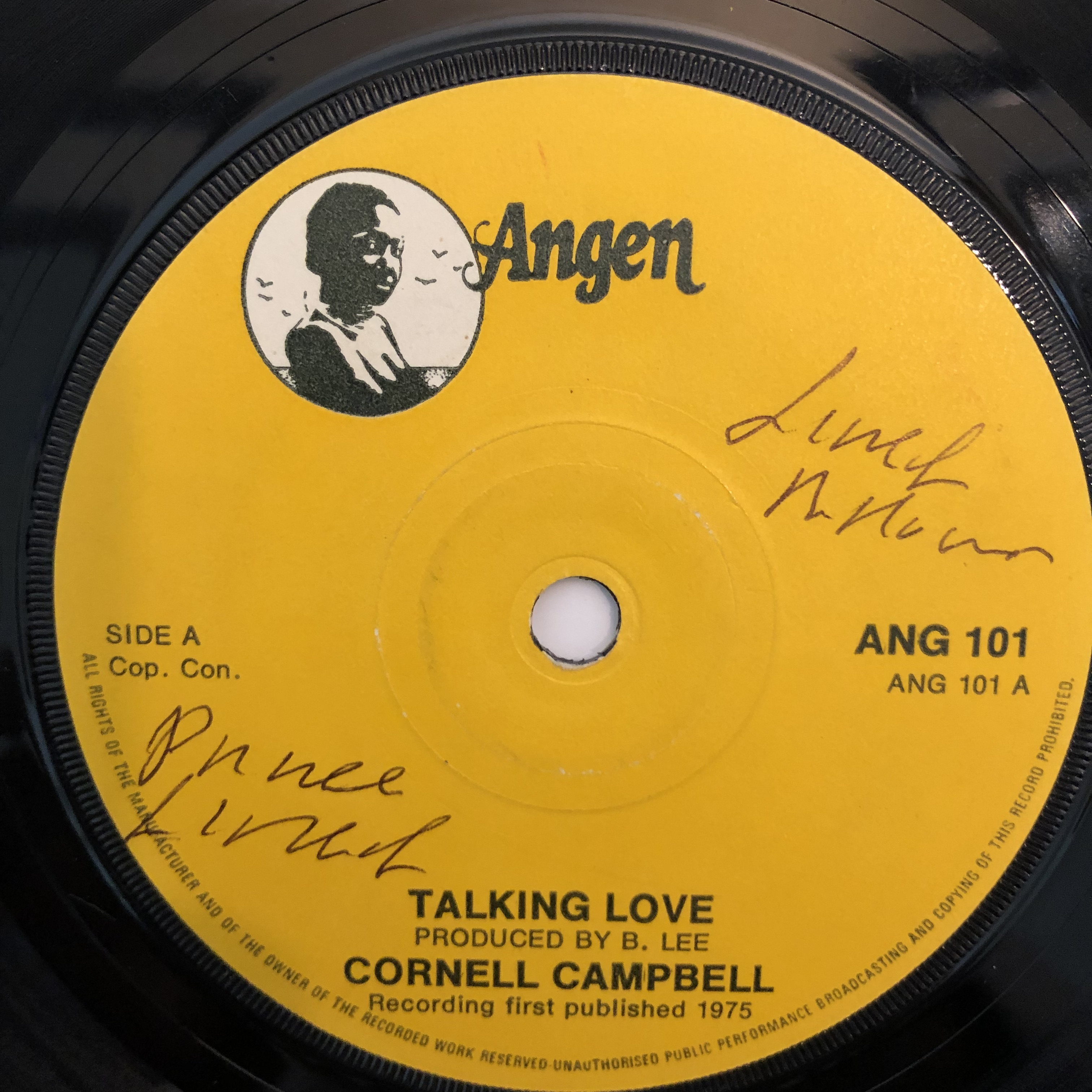 Cornell Campbell - Talking Love【7-20308】