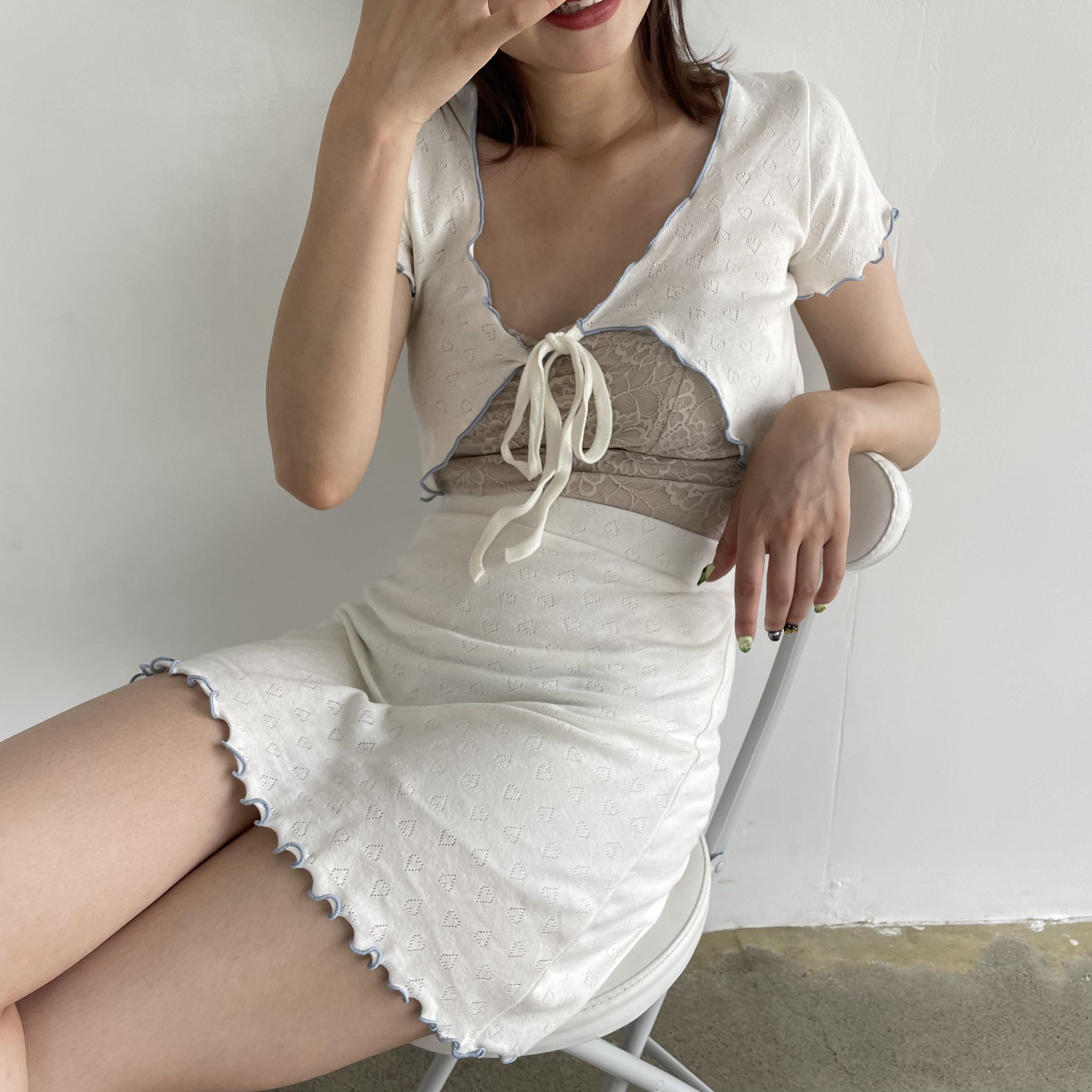 【Belle】mellow frill setup / ivory