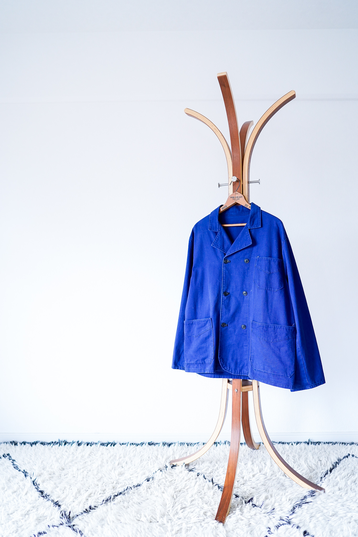 """【1950-60s】""""Double-Breasted"""" French Work Cotton Twill JKT / v627y"""