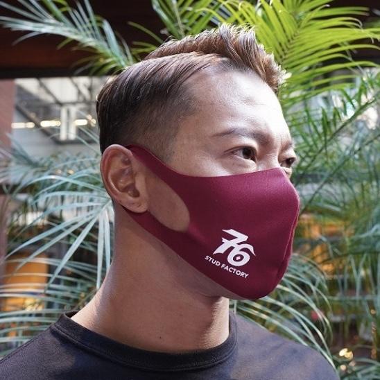 No,76 logo dry fit mask (BURGUNDY)