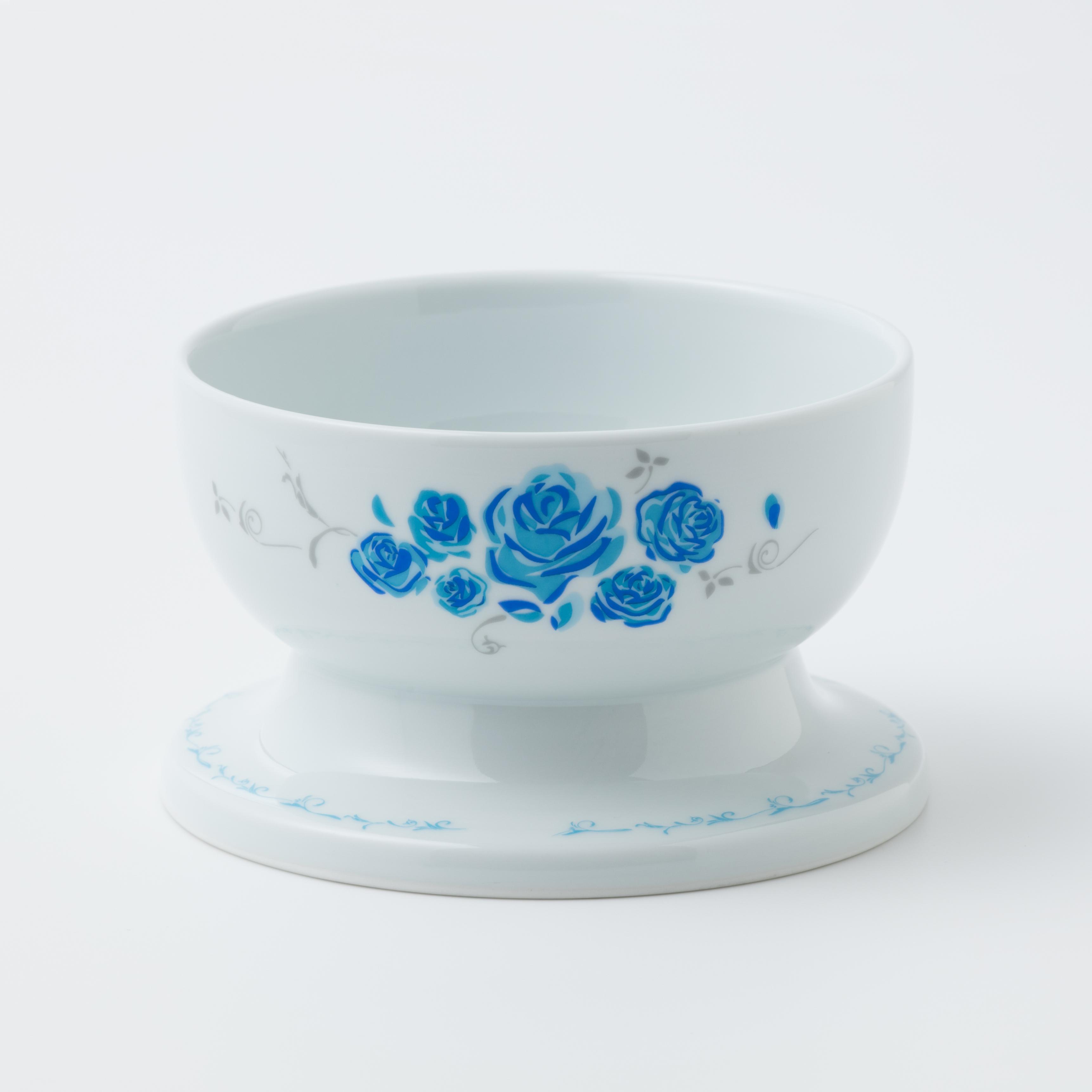 有田焼【エンジェル】 ロータイプ ローズブルー 製造:江口製陶所