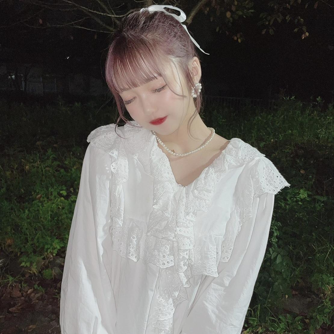 【津代美月】ボリュームフリルワンピース