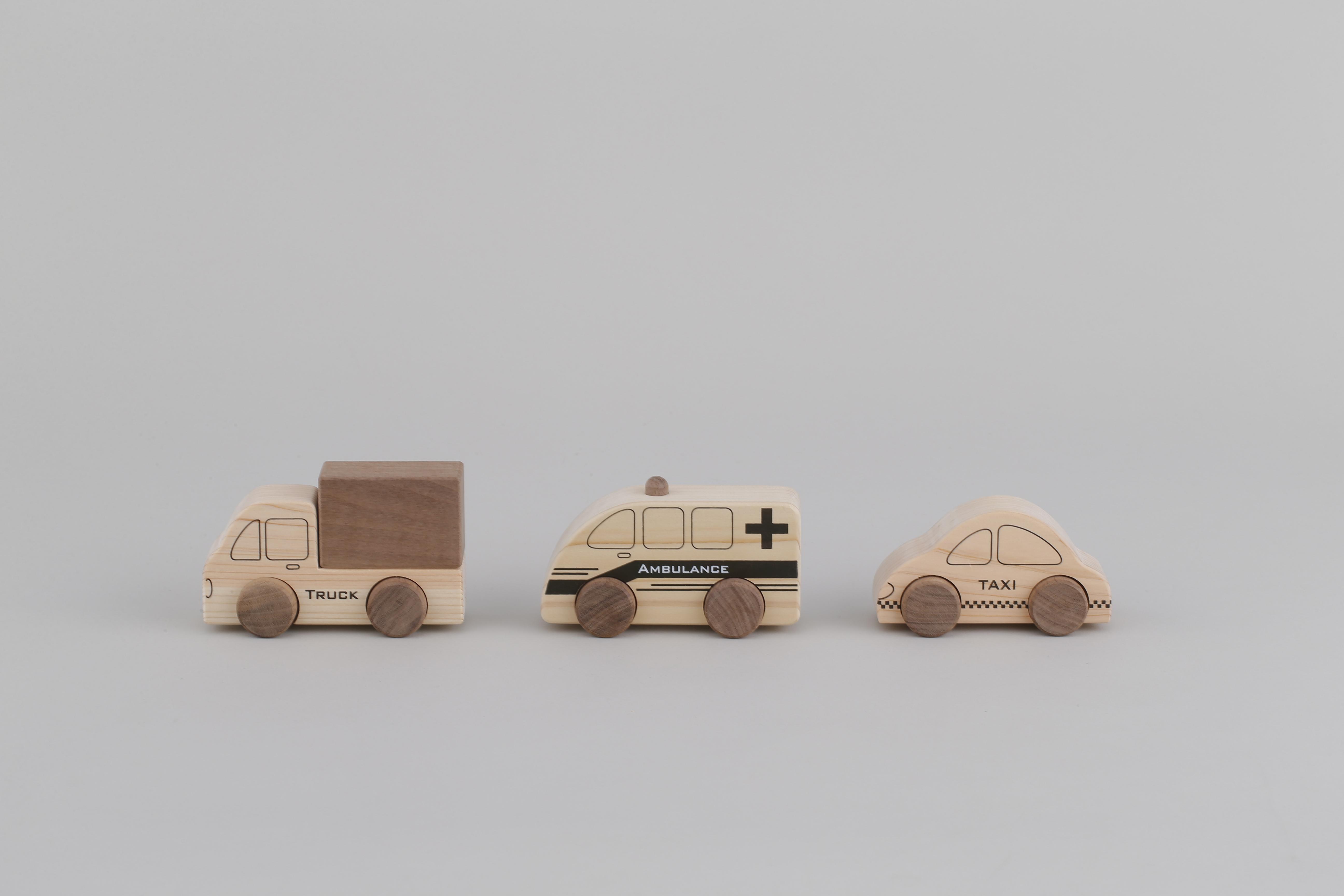 はたらく車シリーズ VEHICLE SERIES | 木のおもちゃ 出産祝い 車のおもちゃ